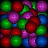 Fondo de las bolas de la Navidad Fotografía de archivo libre de regalías