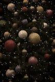 Fondo de las bolas del árbol de navidad Imagenes de archivo