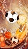 Fondo de las bolas del deporte Fotografía de archivo libre de regalías