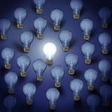 Fondo de las bombillas Imagen de archivo