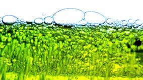 Fondo de las burbujas del aceite del agua metrajes