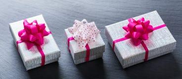 Fondo de las cajas de regalo del amor del día de fiesta del día de tarjetas del día de San Valentín Imagen de archivo