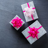 Fondo de las cajas de regalo del amor del día de fiesta del día de tarjetas del día de San Valentín Fotos de archivo libres de regalías