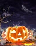 Fondo de las calabazas de Halloween Fotos de archivo