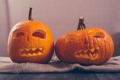 Fondo de las calabazas para Halloween Fotografía de archivo