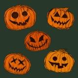 Fondo de las calabazas para Halloween Ilustración del vector Imágenes de archivo libres de regalías