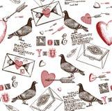 Fondo de las cartas de amor Foto de archivo libre de regalías