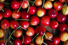 Fondo de las cerezas Imagen de archivo libre de regalías