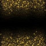 Fondo de las chispas del oro que brilla imagen de archivo libre de regalías
