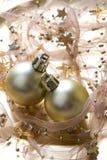 Fondo de las chucherías de la Navidad Foto de archivo libre de regalías