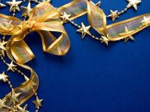 Fondo de las cintas de la Navidad Fotografía de archivo