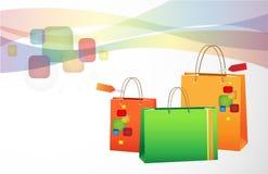 Fondo de las compras Imagen de archivo libre de regalías