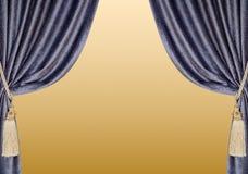 Fondo de las cortinas del terciopelo Imagen de archivo