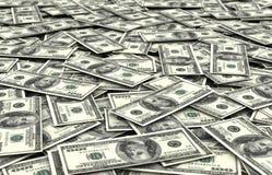 Fondo de las cuentas de dólar Imagenes de archivo