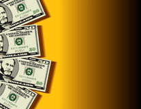 Fondo de las cuentas de dólar stock de ilustración