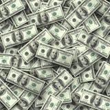Fondo de las cuentas del ciento-dólar Foto de archivo libre de regalías
