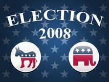 Fondo de las estrellas de la elección 2008 stock de ilustración