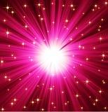 Fondo de las estrellas de los rayos ligeros Imagen de archivo libre de regalías