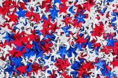 Fondo de las estrellas rojas, blancas y azules de los E.E.U.U. Fotografía de archivo libre de regalías