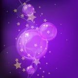Fondo de las estrellas y de las burbujas. Fotos de archivo