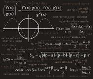 Fondo de las fórmulas Imagen de archivo