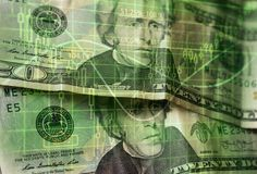 Fondo de las finanzas con el dinero y con la carta común imagen de archivo