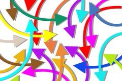 Fondo de las flechas Foto de archivo libre de regalías
