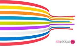Fondo de las flechas del arco iris Ejemplo del vector para sus presentaciones del asunto Imagen de archivo libre de regalías