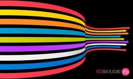 Fondo de las flechas del arco iris Ejemplo del vector para sus presentaciones del asunto Fotos de archivo libres de regalías