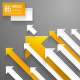 Fondo de las flechas - plantilla del diseño gráfico Fotografía de archivo libre de regalías