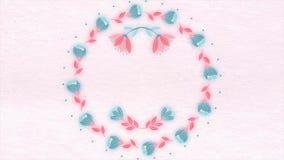 Fondo de las flores pintadas en la animación Fondo floral hermoso con el espacio para el texto libre illustration