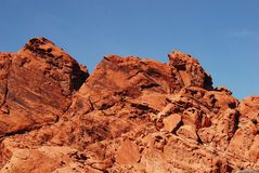Fondo de las formaciones de roca de la piedra arenisca roja Fotos de archivo