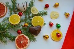 Fondo de las frutas de la Navidad y del Año Nuevo Fotografía de archivo libre de regalías