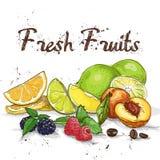 Fondo de las frutas frescas Fotos de archivo libres de regalías
