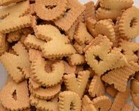 Fondo de las galletas de ABC Imagen de archivo