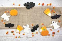 Fondo de las galletas de Halloween Fotos de archivo