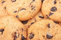 Fondo de las galletas de microprocesadores de chocolate Imagen de archivo libre de regalías