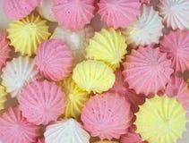 Fondo de las galletas del merengue Imágenes de archivo libres de regalías