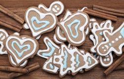 Fondo de las galletas del pan de jengibre imagen de archivo libre de regalías