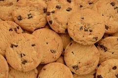 Fondo de las galletas de viruta de chocolate Fotografía de archivo