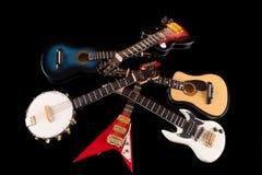 Fondo de las guitarras eléctricas Imagen de archivo libre de regalías