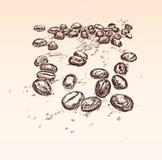 Fondo de las habas de Coffe Foto de archivo libre de regalías