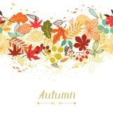 Fondo de las hojas de otoño estilizadas para saludar libre illustration