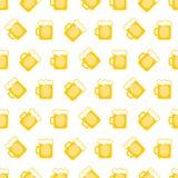 Fondo de las jarras de cerveza de la pinta Foto de archivo