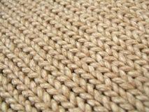 Fondo de las lanas de Brown Fotografía de archivo libre de regalías