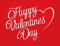 Fondo de las letras de día de las tarjetas del día de San Valentín Ilustración del Vector