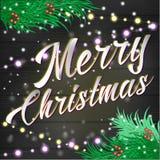 Fondo de las letras de la Feliz Navidad Imagenes de archivo
