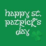 Fondo de las letras del día de St Patrick Fotos de archivo libres de regalías