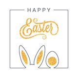 Fondo de las letras del vintage del diseño de Pascua libre illustration