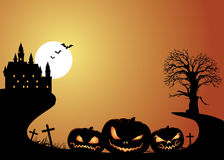 Fondo de las linternas de Halloween y de Jack O Imagenes de archivo